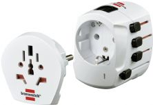 Brennenstuhl World Travel Adaptor 'BWA+' White
